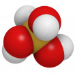 Silicic acid molecule, chemical structure. Silicic acid suppleme - Stockfoto