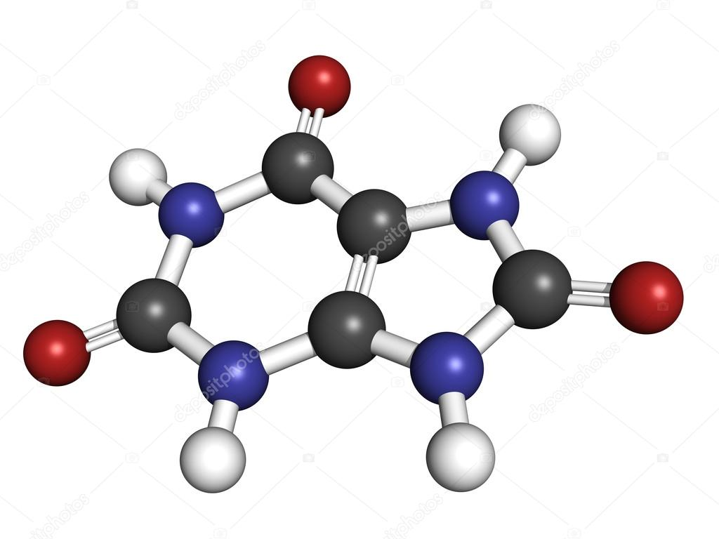 Uric acid gout molecule  chemical structure  High blood levels of uric    Uric Acid Molecule