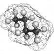 Butane, molecular model — Stockfoto