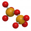 Pyrophosphate molecule, chemical structure - Stock Photo