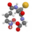 Glutathione antioxidant, molecular model — Stock Photo