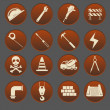Construction Icon Set Gradient Style — Stock Vector