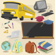 Back to school item pack 1 — Vector de stock #23941027