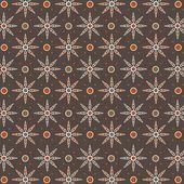 Javanese traditional pattern batik 3 — Stock Vector
