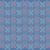 Javanese traditional pattern batik 14 — Stock Vector