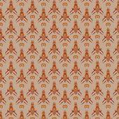 Javanese traditional pattern batik 17 — Stock Vector