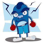 Ultimate Boxer Monster — Stock Vector