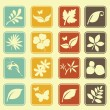 Natural Leafs Icon Set — Stock Vector
