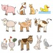 Stock Vector: Farm animal stock collection