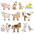 Farm animal stock collection — Stockvektor