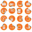Gadget icon set sticker style — Stock Vector