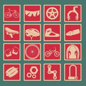 Bicycle classical icon set — Stock Vector