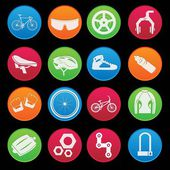 Bicycle classical icon set gradient style — Stock Vector