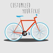 Customized Your Fixie 2 — Stock Vector
