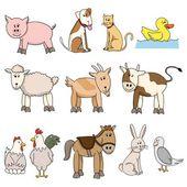 Colección stock de animales de granja — Vector de stock
