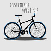 Customized Your Fixie 1 — Stock Vector