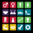 Toilet Sign Icon Basic Style — Stock Vector #24516381