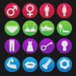 Toilet Sign Icon Gradient Style - Stock Vector