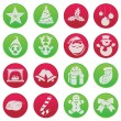 Christmas fun icon set pictogram — Stock Vector