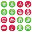 Christmas fun icon set pictogram — Stock Vector #24516527