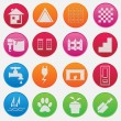 House part icon set gradient style — Stock Vector