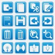 Personal Computer Blue Icon Set — Stock Vector #24518137