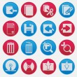 Personal Computer Red And Blue Icon Set — Stock Vector #24518175