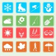 Season weather icon basic style — Stock Vector