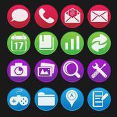 Mobile Phone Icon Gradient Style — Stock Vector