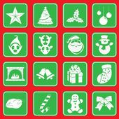 Christmas complete sign icon pictogram collection — Stock Vector