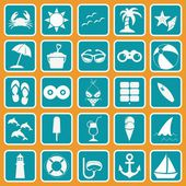 Spring Break icon set basic style — Stock Vector
