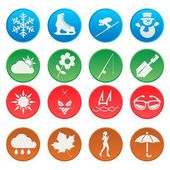 Season weather icon oval style — Stock Vector