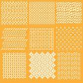 Komplett samling uppsättning javanesiska mönster batik 2 — Stockvektor