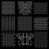 Complete collection set of javanese pattern batik 1 — Vector de stock