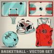 Basketball vector set — Stock Vector