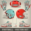 Americfootball vector set — Stock Vector #24722243