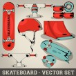 Skateboard Vector Set — Stock Vector #24868263