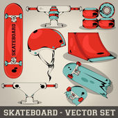 Skateboard Vector Set — Stock Vector