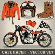 Stock Vector: Cafe Racer Vector Set