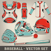 Baseball Vector Set — Stock Vector