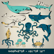 Underwater Vector Set — Stock Vector