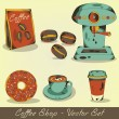 Coffee shop vector set - Stockvektor