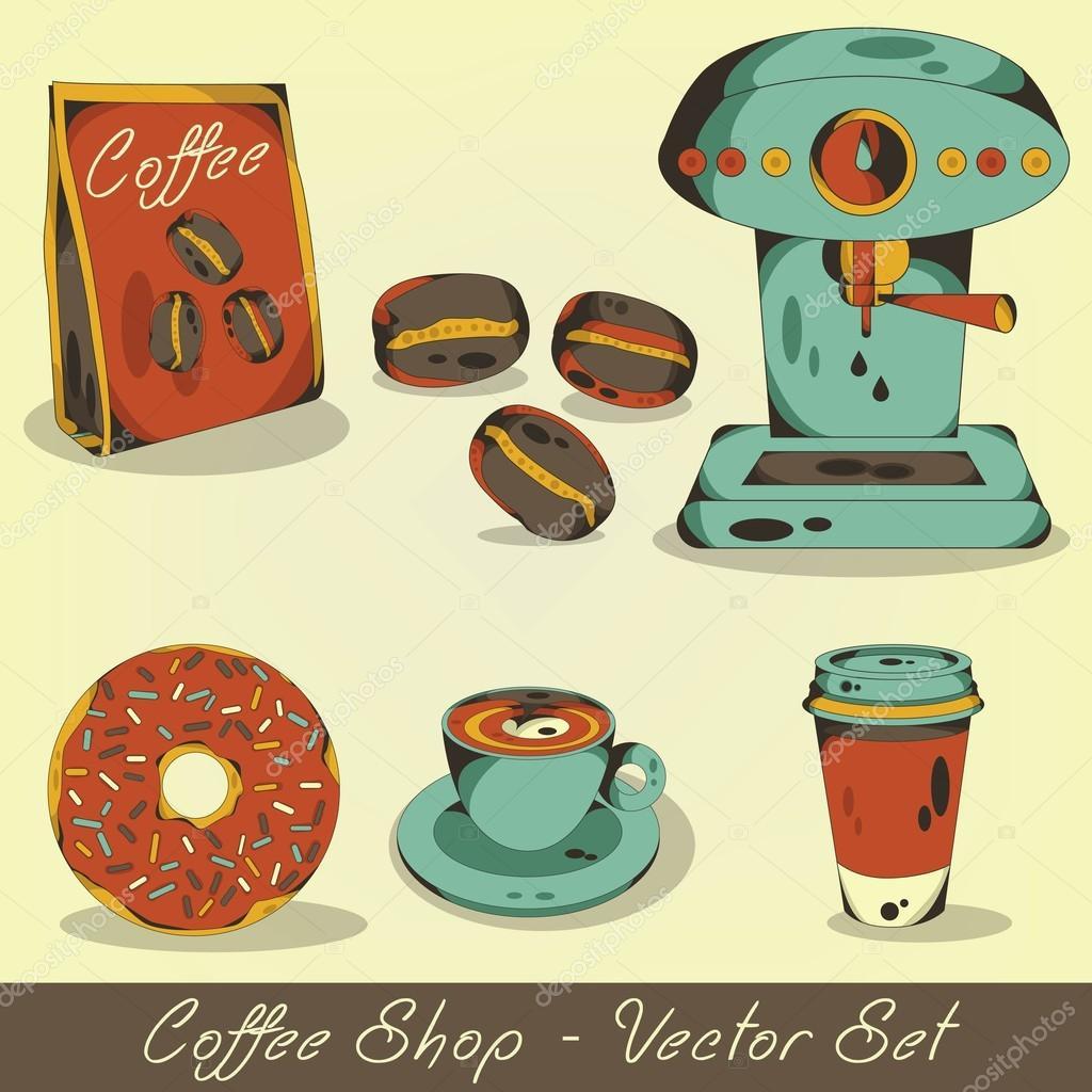 Coffee Shop Logo Vector Coffee Shop Vector Set