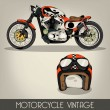 Motorcycle Vintage — Vector de stock #28186593