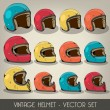 Vintage Helmet Vector Set — Stock Vector #28186595
