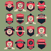 Set vettoriale logo vintage — Vettoriale Stock