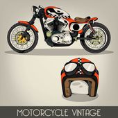 Motorcycle Vintage — Stock Vector