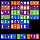 Elemento de calendario cuadrado — Vector de stock