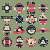 Vintage Circle Logo Vector Set — Stock Vector