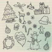 Christmas Doodle Set — Stock Vector